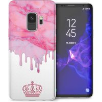 CASEFLEX SAMSUNG GALAXY S9 PINK MARBLE MELT PERSONALISED CASE / COVER (3D)
