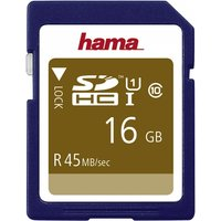 Hama Memory Card (SDHC 16GB Class 10 UHS-I 45MB/S)