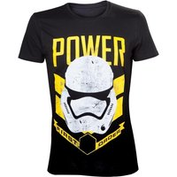 Star Wars VII The Force Awakens Adult Male Stormtrooper First Order Power Small T-Shirt