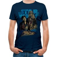 Han Solo Movie - Han And Chewie Men's Large T-shirt - Blue