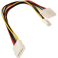 StarTech 4-pin Molex (M) to 2 x 4-pin Molex (F   F) 0.2m Retail Packaged Internal Splitter Cable