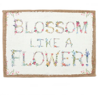 Blossom Hessian Wall Sign