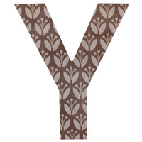 Letter Y Wall Plaque