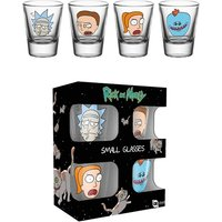 Rick and Morty Faces Shot Glasses