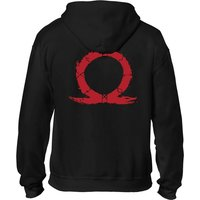 God of War - Serpent Logo Men's XX-Large Full Length Zipper Hoodie - Black