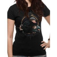 Crimes Of Grindelwald - Nifflers Women's X-Large T-Shirt - Black
