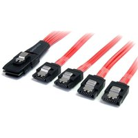 50cm Serial Attached SCSI SAS Cable - SFF-8087 to 4x Latching SATA
