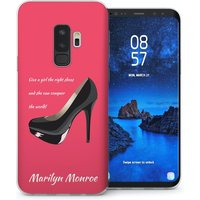 CASEFLEX SAMSUNG GALAXY S9 PLUS MARILYN MONROE SHOE QUOTE CASE / COVER (3D)
