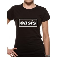 Oasis - Black Logo Women's XX-Large T-Shirt - Black