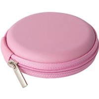 Groov-e Zip-Up EVA Earphones, Memory Cards & Cables Carry Case (Pink)