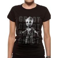 Guardians Of The Galaxy Vol 2 - Photo Groot Women's XX-Large T-Shirt - Black
