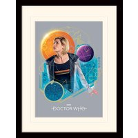 Doctor Who - Geometric Doctor Mounted & Framed 30 x 40cm Print