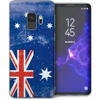 CASEFLEX SAMSUNG GALAXY S9 RETRO AUSTRALIA FLAG CASE / COVER (3D)