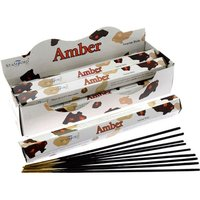 Amber (Pack Of 6) Stamford Hex Incense Sticks
