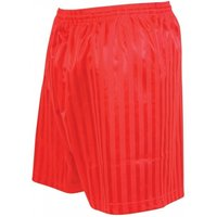 Precision Striped Continental Football Shorts 34-36 inch Red