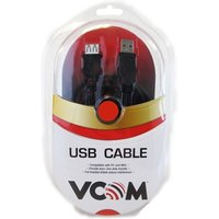 VCOM 2.0 A (M) to USB 2.0 A (F) 5m Black Retail Packaged Extension Data Cable