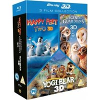 Happy Feet 2 / Yogi Bear / Legend Of The Guardians 3D Blu-ray