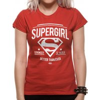 Supergirl - Stronger Faster Women's XX-Large T-Shirt - Red