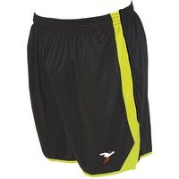 Precision Roma Shorts 34-36 Inch Adult Black/Fluo Yellow/Fluo Yellow