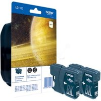 Brother LC1100 Twin Pack Ink Black