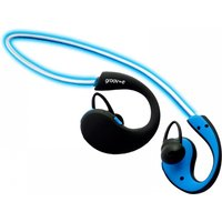 Groov-e GVBT800BE Action Wireless Bluetooth Sports Headphones with LED Neckband Blue