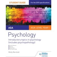 AQA Psychology Student Guide 1: Introductory Topics in Psychology (Includes Psychopathology) by Molly Marshall (Paperback,...