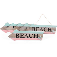 Box of 6 Hanging Beach Signs