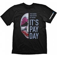 PAYDAY 2 Men's Houston Mask Medium T-Shirt, Black