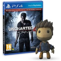 Uncharted 4 A Thief's End Launch Edition PS4 Game + Drake Sackboy Keyring