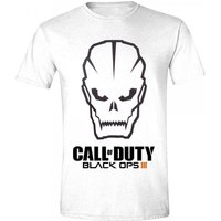Call Of Duty Black Ops III Mens Skull Logo Large White T-Shirt