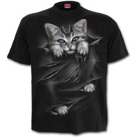Bright Eyes (Front Print) Men's XX-Large T-Shirt - Black