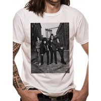 Kiss - B&W City Men's Small T-Shirt - White