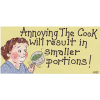 Annoying The Cook Will Result Smiley Sign Pack Of 12