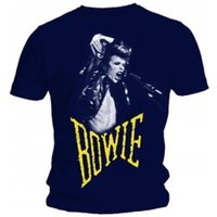 David Bowie Scream Mens Navy T Shirt: Large