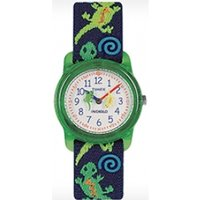 Timex Kids Children's Quartz Watch with White Dial Analogue Display and Multicolour Textile Strap T728814E