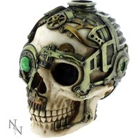 Steampunk Skull Candle Holder