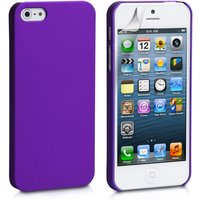 YouSave Accessories iPhone SE Hard Hybrid Case - Purple