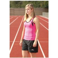 PT Ladies Running Vest Fluo Pink/Black 12 (36inch)
