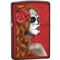 Zippo Day Of The Dead Girl Candy Apple Red Windproof Lighter