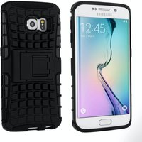 YouSave Accessories Samsung Galaxy S6 Edge Stand Combo Case - Black
