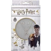 Harry Potter Deathly Hallows necklace and Stud Earring Set