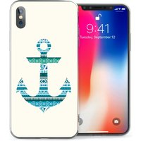 CASEFLEX APPLE IPHONE X AZTEC BLUE ANCHOR CASE / COVER (3D)