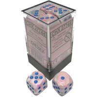 Chessex 16mm D6 Dice Block: Festive Pop Art with Blue