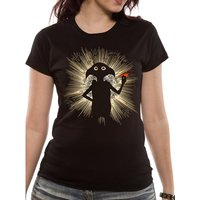 Harry Potter - Dobby Flash Fitted Women's Medium T-shirt - Black