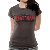Batman - Authentic Logo Women's Large T-Shirt - Grey