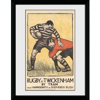 Transport For London Rugby at Twickenham Framed Collector Print