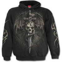 Draco Skull Men's Large Hoodie - Black