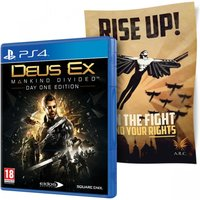 Deus Ex Mankind Divided Day One Edition PS4 Game (with Cloth Poster)