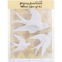 Sass & Belle Swallow Wall Decorations White (Set of 3)