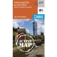 Manchester and Salford by Ordnance Survey (Sheet map, folded, 2015)